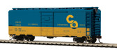MTH Electric Trains Chesapeake & Ohio (#12865) 40' PS-1 Box Car HO Scale 85-74137