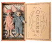 Maileg Mum and Dad Mice in cigar Box 16-9740-01