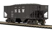 MTH Electric Train Norfolk & Western(87280) USRA 55- Ton Steel Twin Hopper Car HO Scale 80-97095