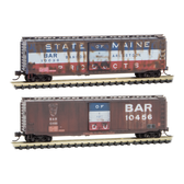 Micro-Trains N Scale  Bangor & Aroostook Weathered 2pk 993-05-730