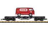 LGB (Flachwagen) Flat Car Loaded with a VW Type 1 Bus G Scale 40597