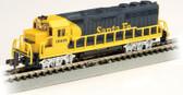 Bachmann EMD GP40 Santa Fe #3808 Blue &Yellow N Scale 63563