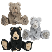 Ganz Li'l James 8' Black/Brown/Grey Bear H13594