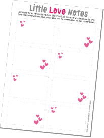 Free Printable Love Notes - Blank - By Wink Design