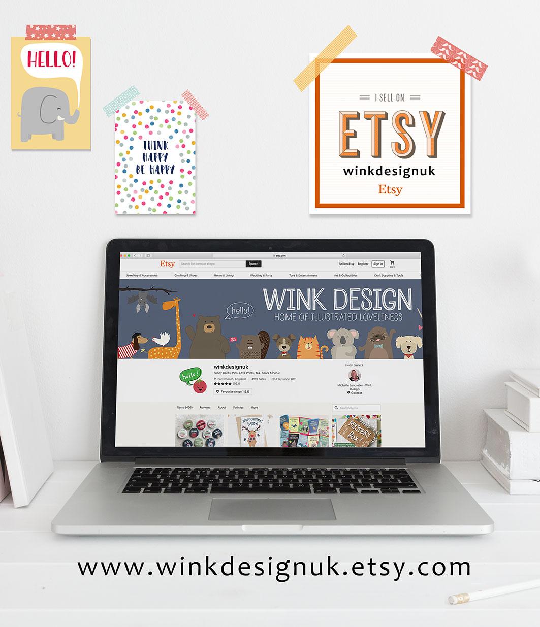 Go to the Wink Design Etsy Shop, winkdesignuk