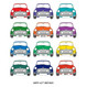 Mini Cooper Car Print - mulitcoloured - numberplate personalisation example