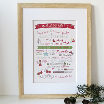 Family Christmas Print - Framed