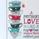 Personalised 'A Mother's Love' Gift Print - teal/grey - detail