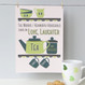Personalised Tea And Biscuit Family Print - two cup example - green - unmounted