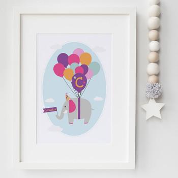Personalised Children's Elephant Print