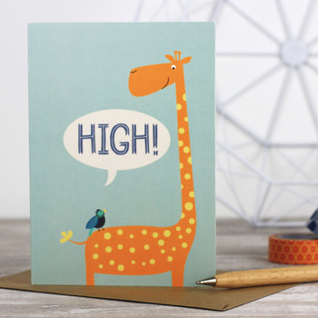 High! Greeting Card