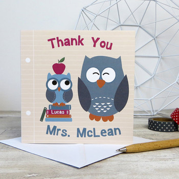 Teacher / Classroom Assistant Thank You Card