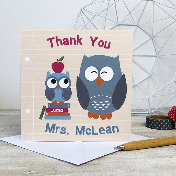 Teacher / Classroom Assistant Thank You Card