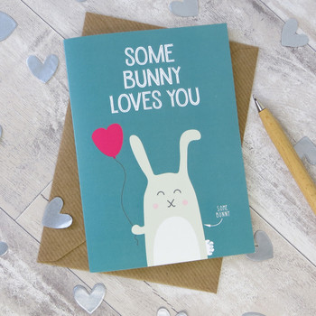 Wink Design Some Bunny Love You Valentine Card