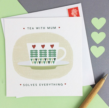 Scandi Style Teacup Mothers Day Card