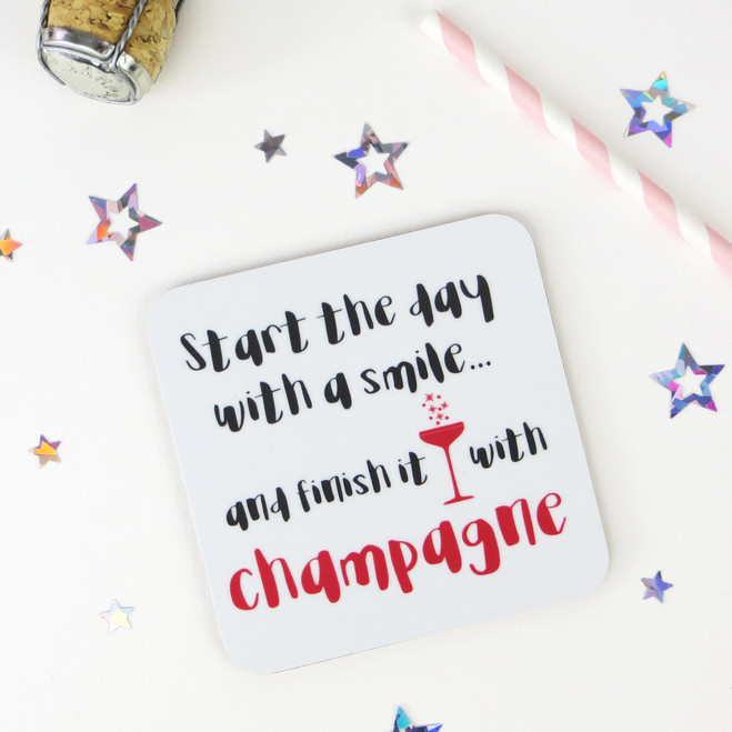Wink Design - Champagne Coaster - Funny Drinks Gift
