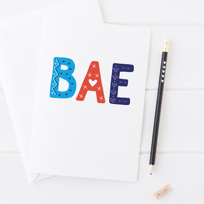 Wink Design - Friendship Card - BAE - Valentines Card
