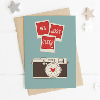 We Just Click Camera Love Card