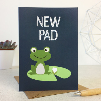 New Pad Frog Greetings Card - New Home or New Address Card