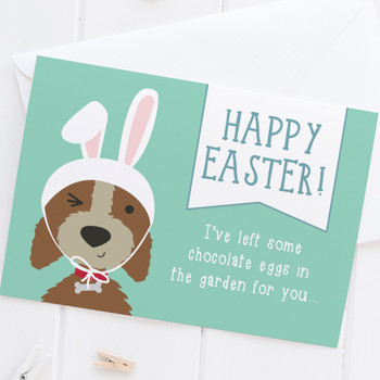 Happy Easter - Funny Dog Easter Card - Wink Design