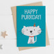 Wink Design - Animal Pun Card - Happy Birthday  - Birthday Card - Cat Lover