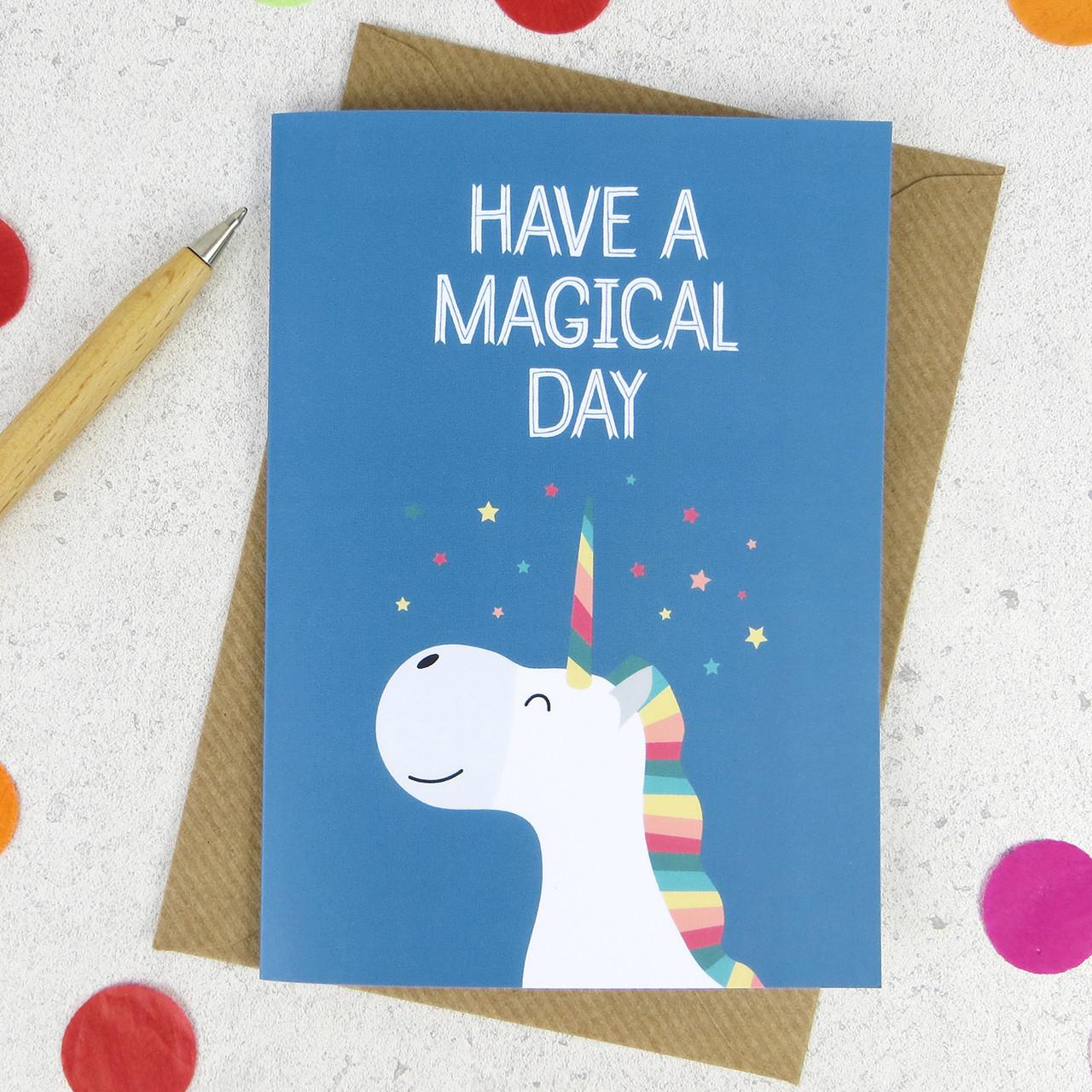 wink design  happy birthday  birthday card  unicorn card