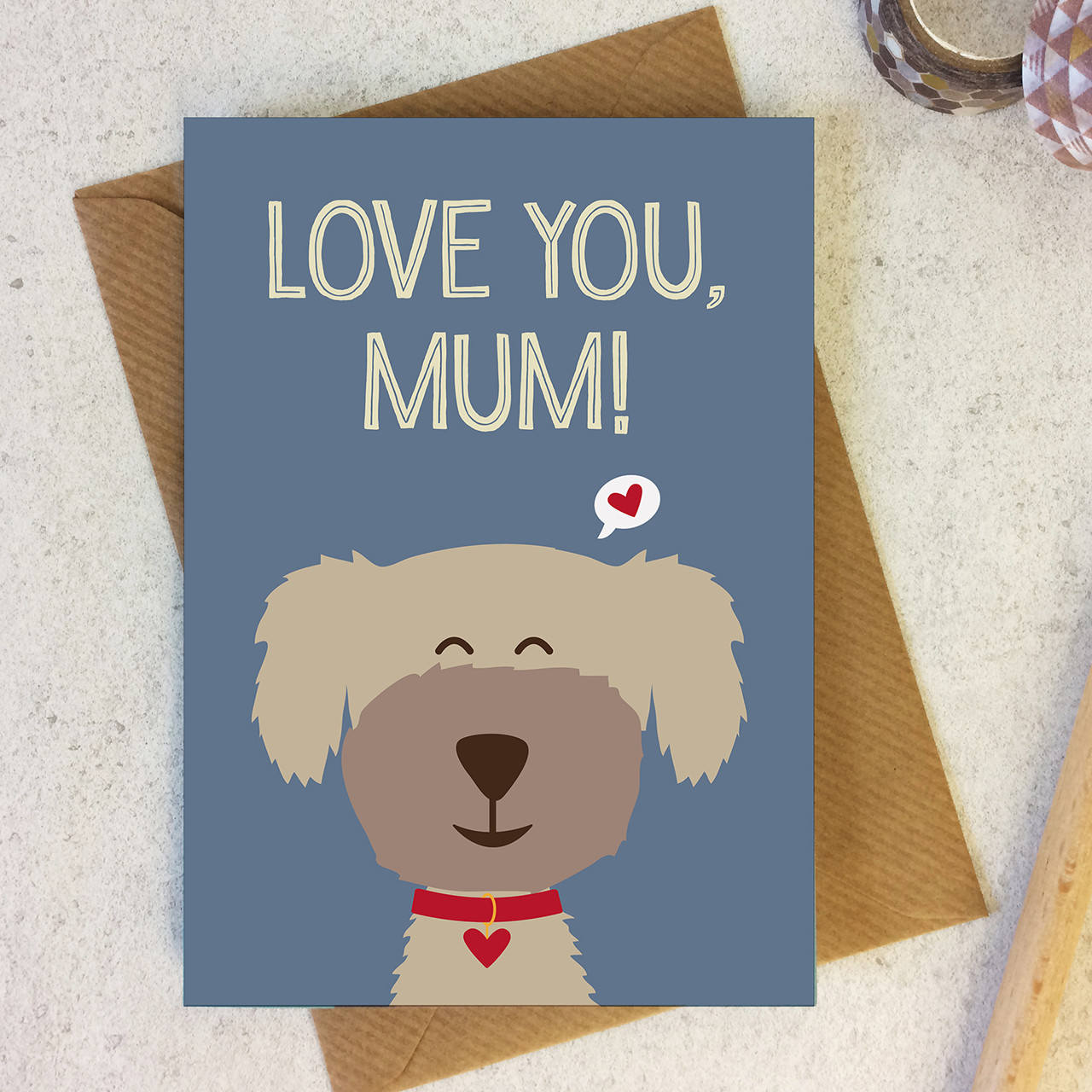 Love You, Mum - Mother's Day / Birthday Card