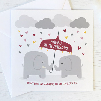 Elephants Anniversary Card by Wink Design
