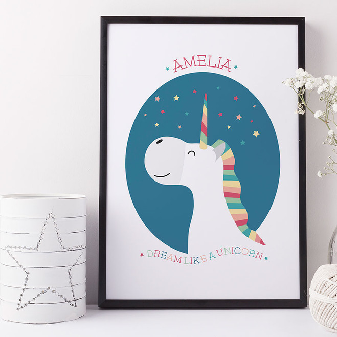 Personalised Unicorn Print by Wink Design
