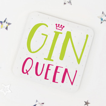 Gin Queen: Fun Drinks Coaster