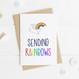 Wink Design Sending Rainbows Card
