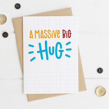 Wink Design Massive Big Hug Card