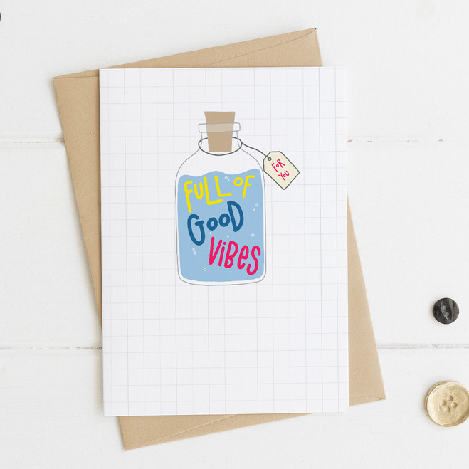Wink Design Good Vibes Card