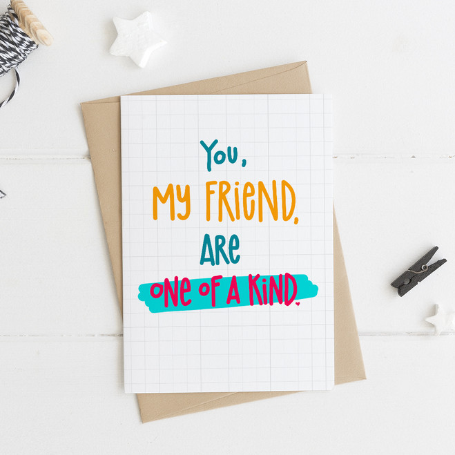 Wink Design One Of A Kind Friendship Birthday Card