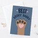Best Doggy Daddy Fathers Day or Birthday Card by Wink Design