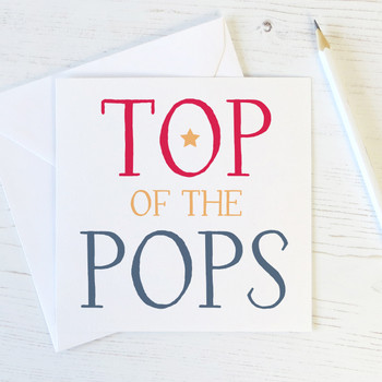 Top of the Pops Fathers Day or Birthday Card