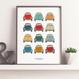 VW Beetle Car Print - personalised