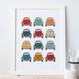 VW Beetle Car Print - unpersonalised