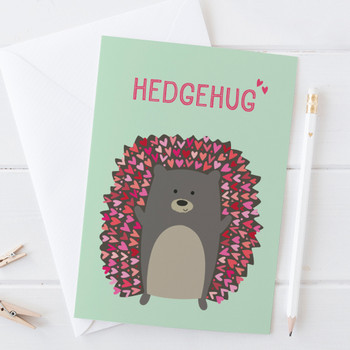 Cute Hedgehog 'Hedgehug' Card