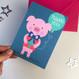 Cute Pig Thank You Card