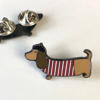 Sausage Dog Enamel Pin by Wink Design