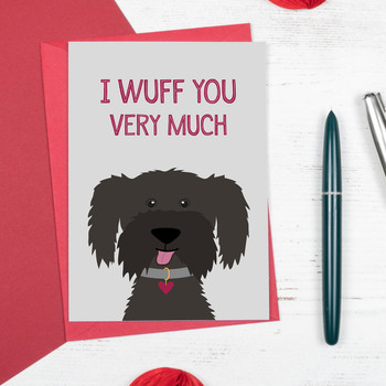 I Wuff You Very Much - Cute Dog Love or Anniversary Card