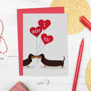 Sausage Dog Love Card