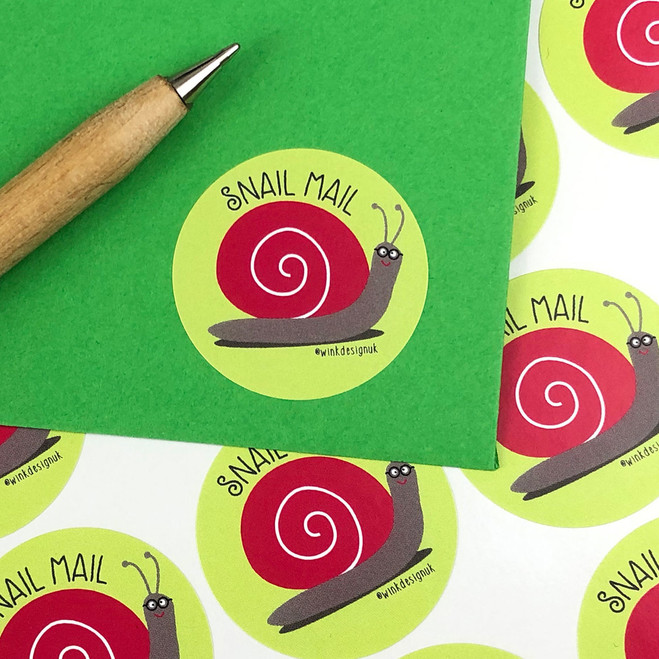 Snail Mail stickers by Wink Design