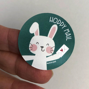 Rabbit Happy Mail Stickers by Wink Design