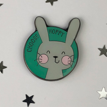 Choose Hoppy - Rabbit Enamel Pin by Wink Design