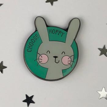 Choose Hoppy - Rabbit Enamel Pin by Wink Design