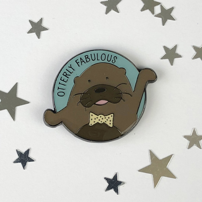 Otterly Fabulous - Otter Enamel Pin by Wink Design