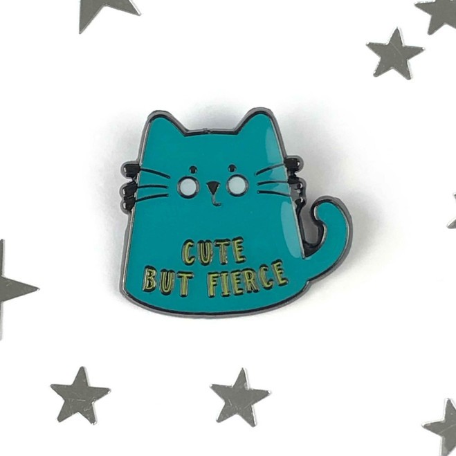 Cute But Fierce - Cat Enamel Pin