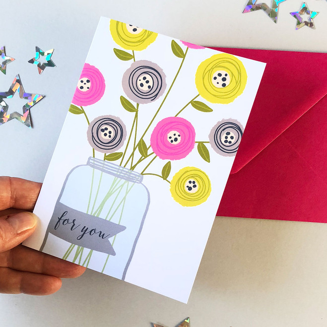 Flower Vase Thank You Cards by Wink Design
